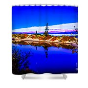 Mouth Of The Two Hearted River Shower Curtain