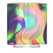 Movement Abstract Ink Digital Painting Shower Curtain