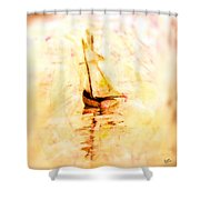 Move With The Waves Shower Curtain