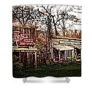 Movie Set Abandoned Western Town Shower Curtain