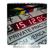 Movie Slate From Private Parctice Shower Curtain