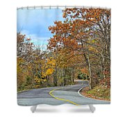 Movin On Down The Road Shower Curtain