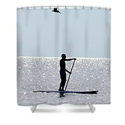 Moving At Rest Shower Curtain