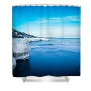 Moving Ice Shower Curtain