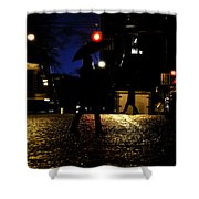Moving Rain Shower Curtain