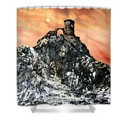 Mow Cop Castle Staffordshire Shower Curtain