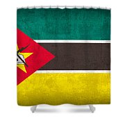 Mozambique Flag Vintage Distressed Finish Shower Curtain