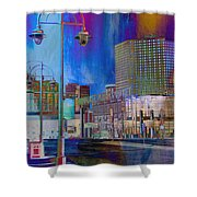Mpm And Lamp Post Vivid Abstract Shower Curtain