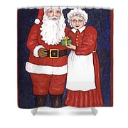 Mr And Mrs Claus Shower Curtain