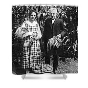 Mr. And Mrs. Luther Burbank Shower Curtain