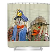 Mr And Mrs Scarecrow Shower Curtain