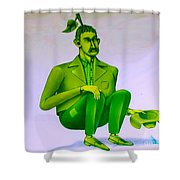 Mr Bean Jeans Shower Curtain