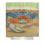 Mr. Blue Crab Shower Curtain