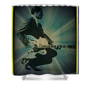 Mr. Chuck Berry Blueberry Hill Style Shower Curtain