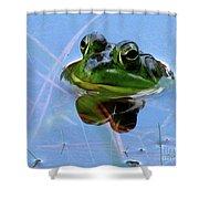 Mr. Frog Shower Curtain
