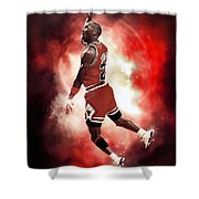 Mr. Michael Jeffrey Jordan Aka Air Jordan Mj Shower Curtain