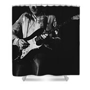 Mick On The Rock And Roll Guitar Shower Curtain
