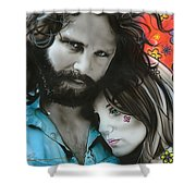 Mr Mojo Risin And Pam Shower Curtain