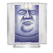 Mr. Moon Shower Curtain