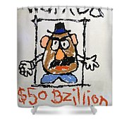 Mr. Potato Head Gone Bad Shower Curtain