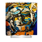 Mr. Rainbow With A Fried Egg Sunny Side Up Shower Curtain