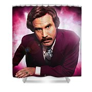 Mr. Ron Mr. Ron Burgundy From Anchorman Shower Curtain
