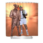 Mr Statue Shower Curtain