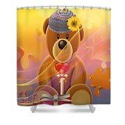 Mr. Teddy Bear Shower Curtain