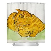 Mr. Yellow Shower Curtain