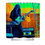 Mrdog #21 In Cosmicolors Crop 3 Shower Curtain