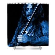 Mrmt #1 In Blue Shower Curtain