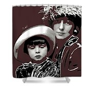 Mrs. Evelyn Nesbit Thaw And Son Arnold Genthe Photo New York 1913-2014 Shower Curtain