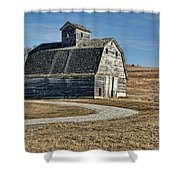Mrs. Green's Barn Shower Curtain