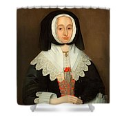 Mrs Lucy Hutchinson, C.1643 Shower Curtain