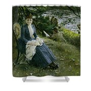 Mrs Symons In Scotland Shower Curtain