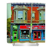 Mrs Tiggy Winkle's Toy Shop And Lost Marbles Richmond Rd The Glebe Paintings Ottawa Scenes C Spandau Shower Curtain