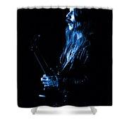 Mrush #11 In Blue Shower Curtain