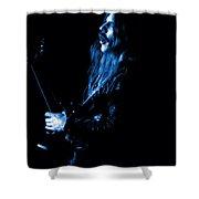 Mrush #12 In Blue Shower Curtain