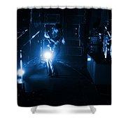 Mrush #33 In Blue Shower Curtain