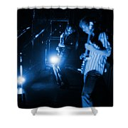 Mrush #35 In Blue Shower Curtain