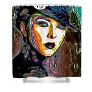 Ms Boss Lady Shower Curtain