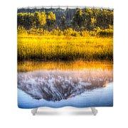 Mt Adams Reflection Shower Curtain