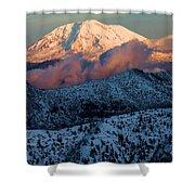 Mt Adams Sunset Shower Curtain