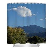 Mt Ashland In Late Summer Shower Curtain
