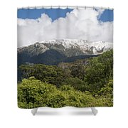 Mt. Aspiring National Park Mountains Shower Curtain