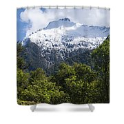 Mt. Aspiring National Park Peaks Shower Curtain
