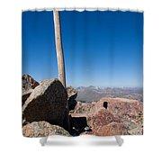 Mt. Bierstadt Summit Shower Curtain