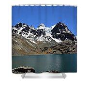Mt Condoriri Panorama Shower Curtain