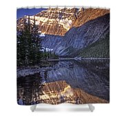 Mt Edith Cavell Reflection Shower Curtain