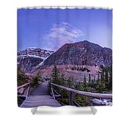 Mt. Edith Cavell Trail At Twilight Shower Curtain